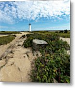 Edgartown Lighthouse Marthas Vineyard Metal Print