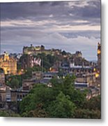 Edinburgh At Dusk Metal Print