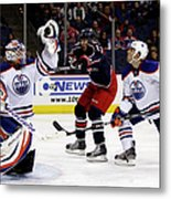 Edmonton Oilers V Columbus Blue Jackets Metal Print