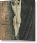 Edouard Chimot Nude In Boudoir  Metal Print