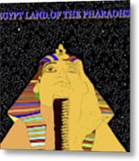 Egyptian Night Travel Poster A Metal Print