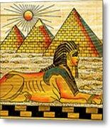 Egyptian Souvenir Papyrus Metal Print