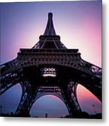 Eiffel Tower At Sunset Metal Print