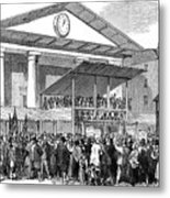 Election Hustings In Covent Garden Metal Print