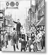 Election Parade Lithograph Supporting Metal Print