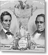Election Poster With Abraham Lincoln Metal Print
