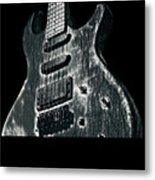Electric Guitar Musician Player Metal Rock Music Lead Black Metal Print
