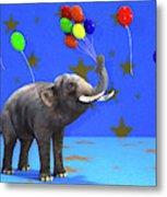 Elephant Celebration Metal Print