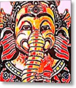 Elephant Face Metal Print