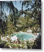Eleuthera Pool Party Metal Print