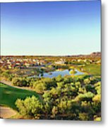 Elevated View Of Golf Course, Sun City Metal Print