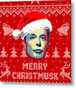 Elon Musk Merry Christmusk Metal Print