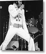 Elvis Presley On Stage During His 1972 Metal Print