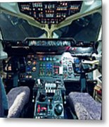 Empty Aeroplane Cockpit Metal Print