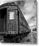 End Of The Line Bw Metal Print