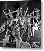 England. 1949. French Dance Troupe Les Metal Print