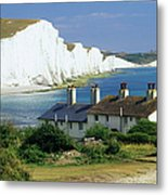 England, Sussex, Seven Sisters Cliffs Metal Print