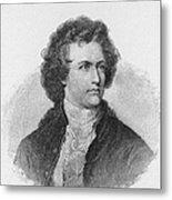 Engraving Of Johann Wolfgang Von Goethe Metal Print