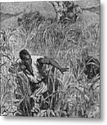 Engraving Of Slave Escape, Mid-19th Metal Print