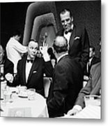 Entertainer Frank Sinatra Giving The Ok Metal Print