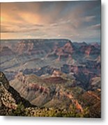 Epic Sunset Over Grand Canyon South Rim Metal Print