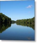 Erie Canal In Early Autumn Metal Print