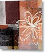 Espresso Flower 1-  Art By Linda Woods Metal Print