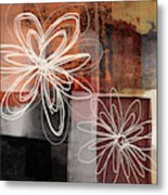 Espresso Flower 2- Art By Linda Woods Metal Print