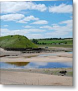 estuary on river Aln at Alnmouth Metal Print
