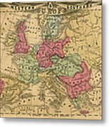 Europe Map Metal Print
