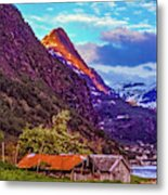 Evening On The Fjord  Metal Print