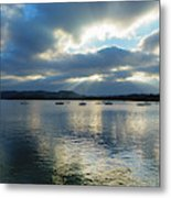 Evening On Windermere In Lake District National Park Metal Print