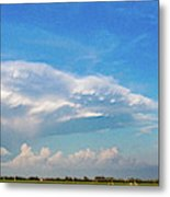 Evening Supercell And Lightning 004 Metal Print