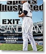 Exit Sandman Baseball Fans Bid Adieu To The Great Mariano Sports Illustrated Cover Metal Print