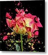Exploding Rose Metal Print