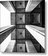 Exterior Architecture Details Of The Metal Print