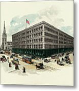 Exterior Of A T Stewart Department Store Metal Print