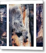 Texture Of Rocks In Canyon   Metal Print
