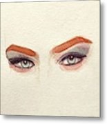 Makeup Art Painting Metal Print