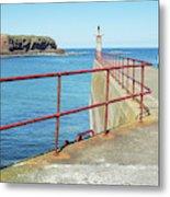 Eyemouth Harbour Pier Entrance Metal Print