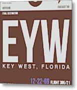 Eyw Key West Luggage Tag II Metal Print