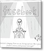 Facebook Doublethink Metal Print