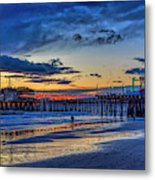 Fading To The Blue Hour - Ferris Wheel Metal Print