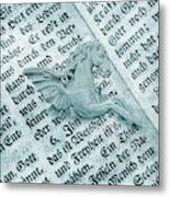 Fairytale Theme With Pegasus Horse Metal Print