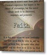 Faith 6976 Metal Print