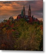 Fall Clouds Over Holy Hill Metal Print