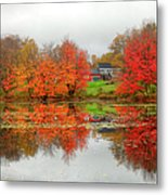 Fall Foliage In Rural New Hampshire Metal Print