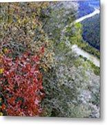 Fall Meets Winter Metal Print