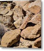 Fallen Sandstone Boulders Metal Print
