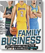 Family Business: Lonzo, Liangelo & Lamelo are Playing by their own Rules SLAM Cover Metal Print